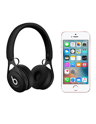 Beats by Dr Dre EP with iPhone SE