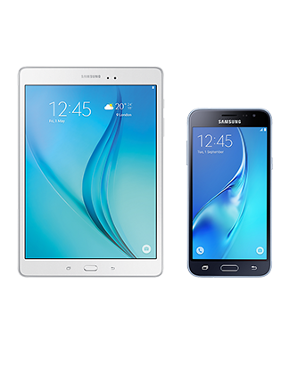Samsung Galaxy Tab A 7 Wi-Fi with Samsung Galaxy J3