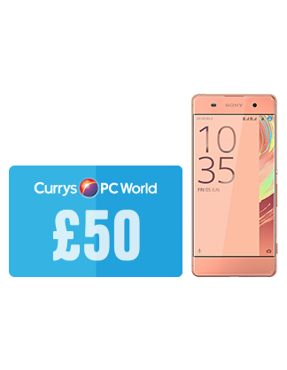 £50 Currys/PC World Giftcard with Sony Xperia XA