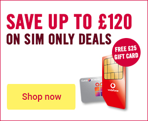 Huge data SIM on deals with free gift card