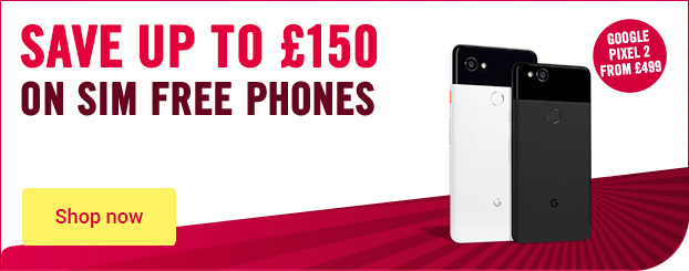 Save up to £130 on SIM free, get Google Pixel 2 on SIM free from £499