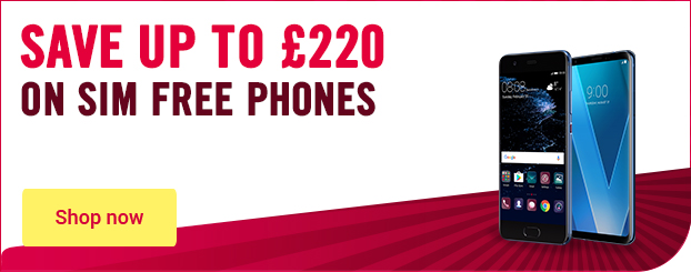Save up to £220 on SIM free