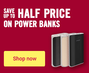 Save up to half price on powerbanks