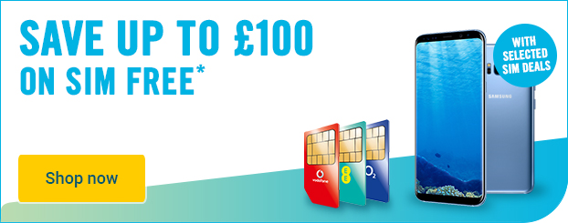 Save up to £100 with selected SIM only deals