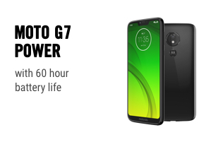 Moto G7 Power with 60 hour battery life