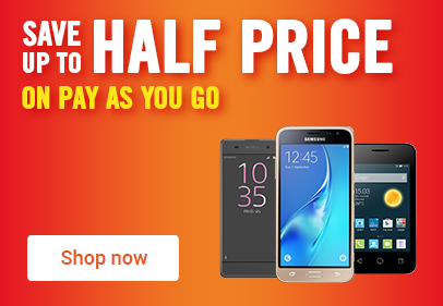 Save up to half price on pay as you go