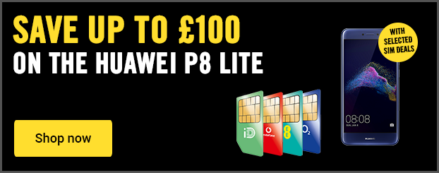 Save up to £100 on the Huawei P8 Lite on SIM free