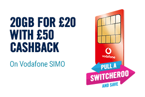 Voda 20 for 20 with cashback