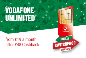 Vodafone SIM Only £19 a month after £48 cashback