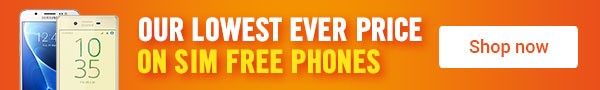 Our lowest price on SIM free phones