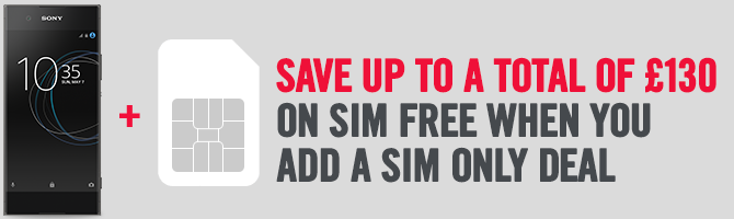 Save Up To £100 On SIM Free When You Add A SIM Only Deal