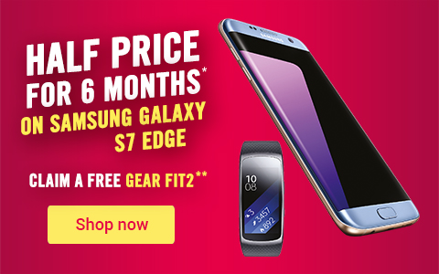 6 months half price on Samsung S7 edge with free Gear Fit2