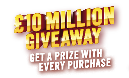 £10 Million Giveaway - Get a prize with every purchase