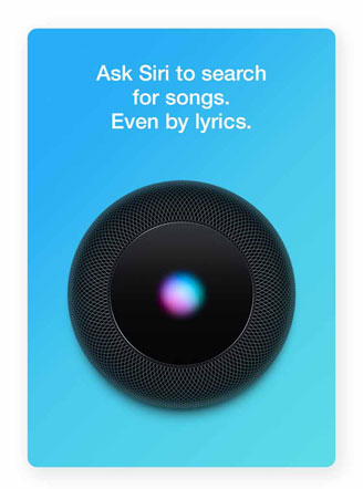 Ask Siri to search for songs, even by lyrics