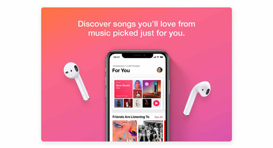 Discover songs you'll love from music picked just for you