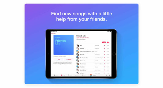 Find new songs with a little help from your friends