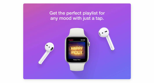 Get the perfect playlist for any mood with just a tap