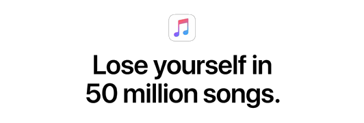 Apple Music - Lose yourself in 50 million songs